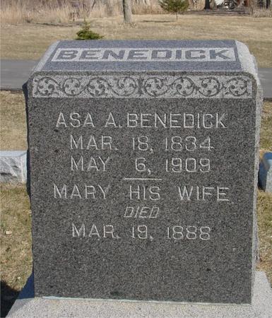 BENEDICK, ASA A. & MARY - Ida County, Iowa | ASA A. & MARY BENEDICK