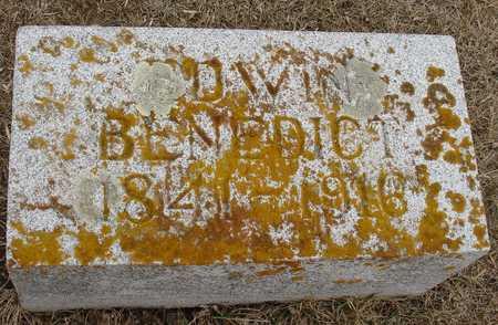 BENEDICT, EDWIN - Ida County, Iowa | EDWIN BENEDICT