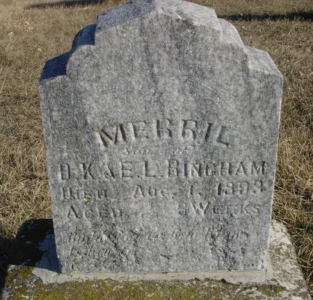 BINGHAM, MERRIL - Ida County, Iowa   MERRIL BINGHAM