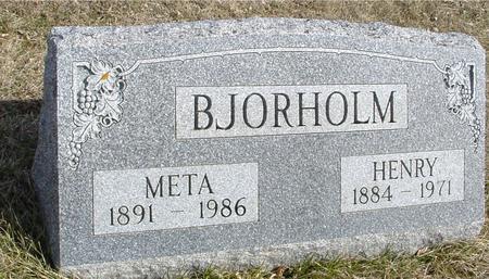BJORHOLM, HENRY & META - Ida County, Iowa | HENRY & META BJORHOLM