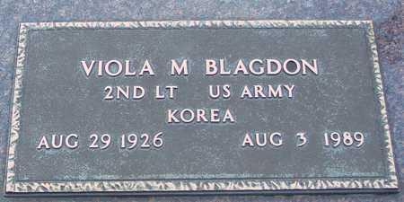 BLAGDON, VIOLA M. - Ida County, Iowa | VIOLA M. BLAGDON