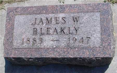 BLEAKLY, JAMES W. - Ida County, Iowa   JAMES W. BLEAKLY