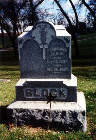 BLOCK, FERDINAND - Ida County, Iowa | FERDINAND BLOCK