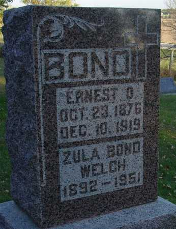 BOND, ERNEST & ZULA - Ida County, Iowa | ERNEST & ZULA BOND