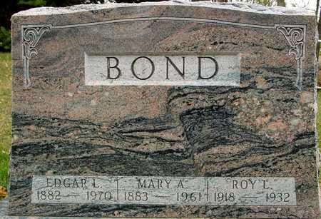 BOND, EDGAR & MARY A. - Ida County, Iowa   EDGAR & MARY A. BOND