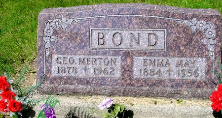 BOND, GEO. MERTON - Ida County, Iowa   GEO. MERTON BOND