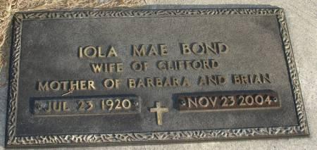 BOND, IOLA MAE - Ida County, Iowa | IOLA MAE BOND