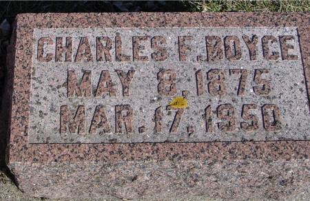 BOYCE, CHARLES F. - Ida County, Iowa   CHARLES F. BOYCE