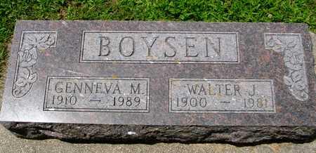 BOYSEN, WALTER &  GENNEVA - Ida County, Iowa   WALTER &  GENNEVA BOYSEN