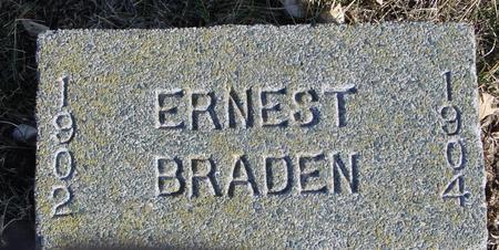 BRADEN, ERNEST - Ida County, Iowa | ERNEST BRADEN