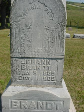 BRANDT, JOHANN - Ida County, Iowa | JOHANN BRANDT