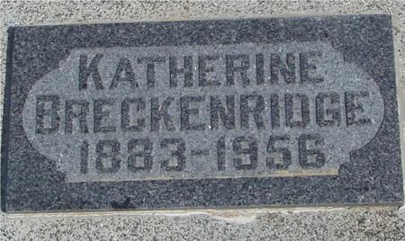 BRECKENRIDGE, KATHERINE - Ida County, Iowa   KATHERINE BRECKENRIDGE