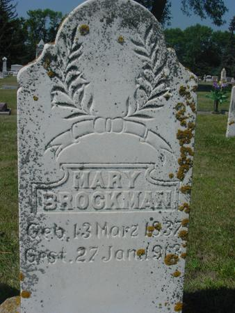 BROCKMAN, MARY - Ida County, Iowa | MARY BROCKMAN