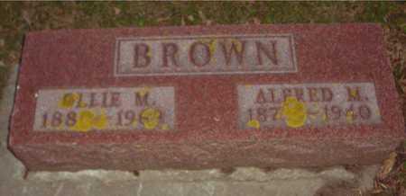 BROWN, ALFRED M. & OLLIE M. - Ida County, Iowa   ALFRED M. & OLLIE M. BROWN