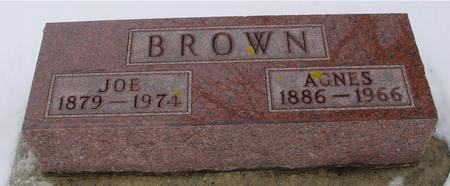BROWN, JOE & AGNES - Ida County, Iowa | JOE & AGNES BROWN