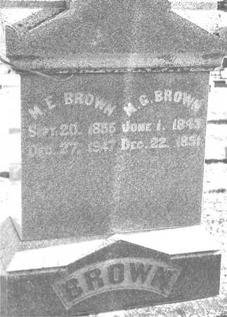 BROWN, M. E. &  M. G. - Ida County, Iowa | M. E. &  M. G. BROWN