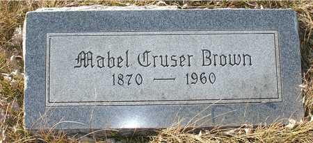 CRUSER BROWN, MABEL - Ida County, Iowa   MABEL CRUSER BROWN
