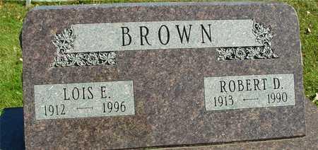 BROWN, ROBERT D. & LOIS - Ida County, Iowa   ROBERT D. & LOIS BROWN