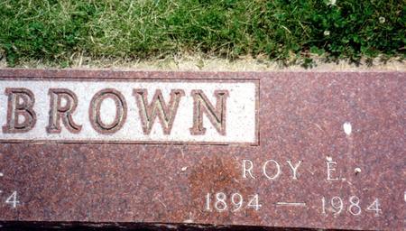 BROWN, ROY E. - Ida County, Iowa | ROY E. BROWN