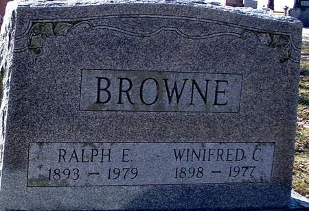 BROWNE, RALPH & WINIFRED - Ida County, Iowa | RALPH & WINIFRED BROWNE
