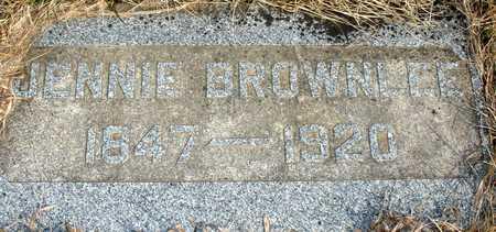 GRAHAM BROWNLEE, JENNIE - Ida County, Iowa | JENNIE GRAHAM BROWNLEE