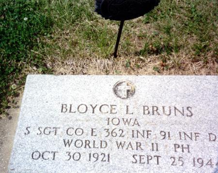 BRUNS, BLOYCE L. - Ida County, Iowa | BLOYCE L. BRUNS