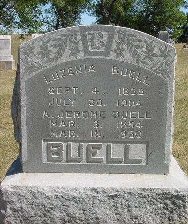 BUELL, LUZENIA & A. JEROME - Ida County, Iowa   LUZENIA & A. JEROME BUELL