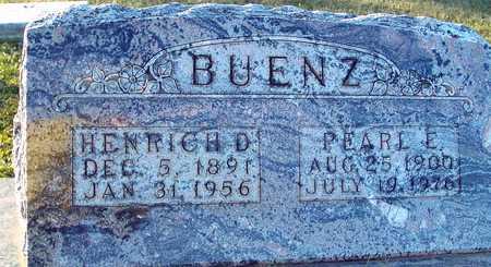 BUENZ, HENRICH D. & PEARL - Ida County, Iowa   HENRICH D. & PEARL BUENZ