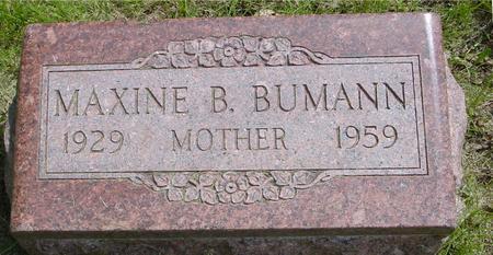 BUMANN, MAXINE B. - Ida County, Iowa   MAXINE B. BUMANN