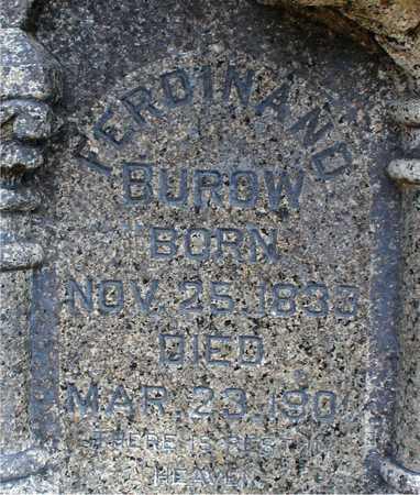 BUROW, FERDINAND - Ida County, Iowa | FERDINAND BUROW