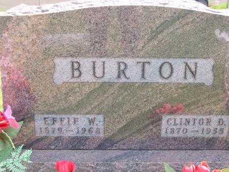 BURTON, EFFIE - Ida County, Iowa | EFFIE BURTON