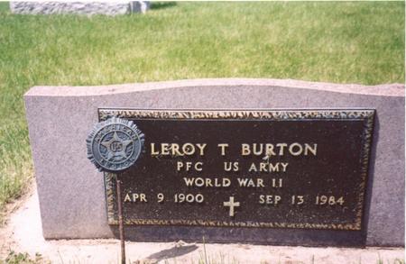 BURTON, LEROY - Ida County, Iowa | LEROY BURTON