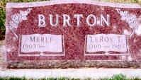 BURTON, MERLE - Ida County, Iowa | MERLE BURTON