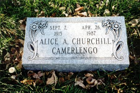 CAMERLENGO, ALICE A. - Ida County, Iowa | ALICE A. CAMERLENGO