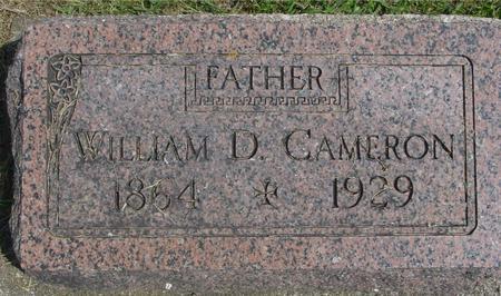 CAMERON, WILLIAM D. - Ida County, Iowa | WILLIAM D. CAMERON