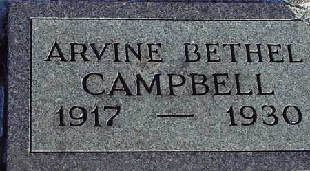 BETHEL CAMPBELL, ARVINE - Ida County, Iowa | ARVINE BETHEL CAMPBELL