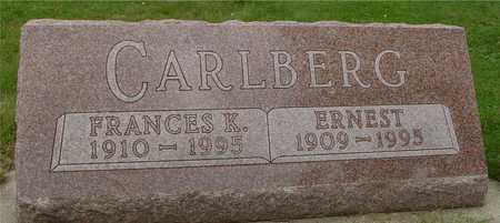 CARLBERG, ERNEST & FRANCES - Ida County, Iowa   ERNEST & FRANCES CARLBERG