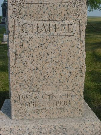 CHAFFEE, ELLA CYNTHIA - Ida County, Iowa | ELLA CYNTHIA CHAFFEE