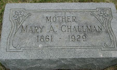 CHALLMAN, MARY  A. - Ida County, Iowa | MARY  A. CHALLMAN