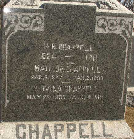 CHAPPELL, H.N., MATILDA, LOVINA - Ida County, Iowa | H.N., MATILDA, LOVINA CHAPPELL