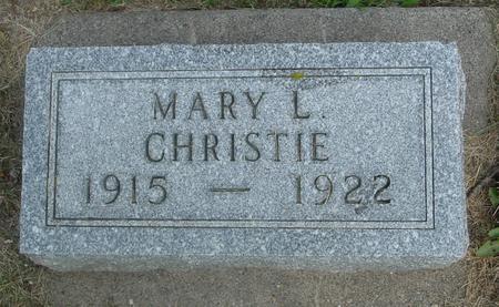 CHRISTIE, MARY L. - Ida County, Iowa   MARY L. CHRISTIE