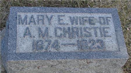CHRISTIE, MARY E. - Ida County, Iowa | MARY E. CHRISTIE