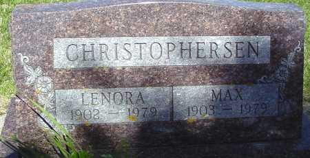 CHRISTOPHERSEN, MAX & LENORA - Ida County, Iowa   MAX & LENORA CHRISTOPHERSEN