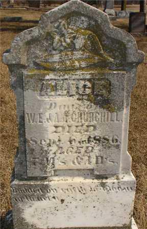 CHURCHILL, ALICE - Ida County, Iowa | ALICE CHURCHILL
