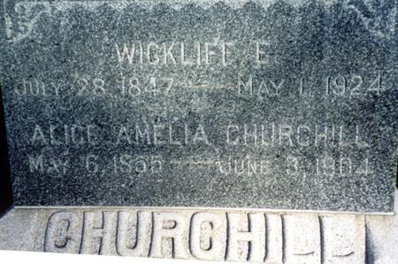 CHURCHILL, WICKLIFF E. - Ida County, Iowa | WICKLIFF E. CHURCHILL