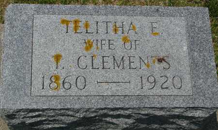 CLEMENTS, TELITHA E. - Ida County, Iowa   TELITHA E. CLEMENTS