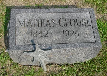 CLOUSE, MATHIAS - Ida County, Iowa   MATHIAS CLOUSE