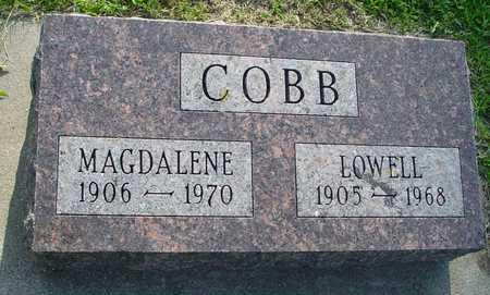 COBB, LOWELL & MAGDALENE - Ida County, Iowa   LOWELL & MAGDALENE COBB