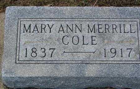 MERRILL COLE, MARY ANN - Ida County, Iowa | MARY ANN MERRILL COLE