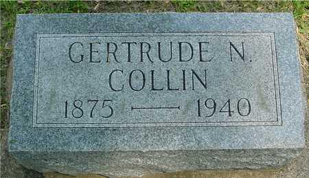 COLLIN, GERTRUDE N. - Ida County, Iowa   GERTRUDE N. COLLIN